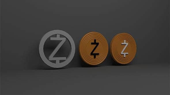 Zcash 3d Logo - 3DOcean Item for Sale