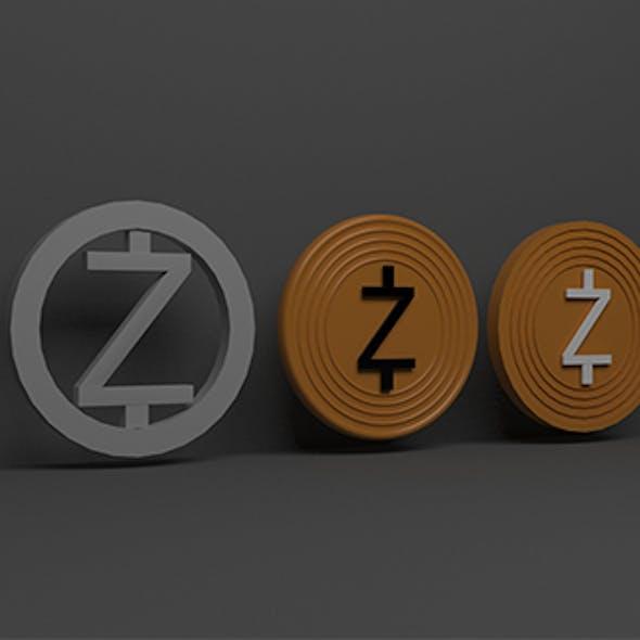 Zcash 3d Logo