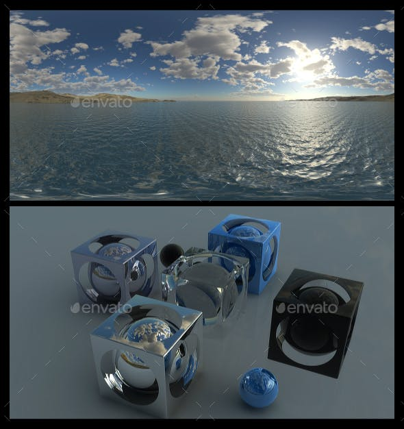 Coastal Clouds 5 - HDRI - 3DOcean Item for Sale
