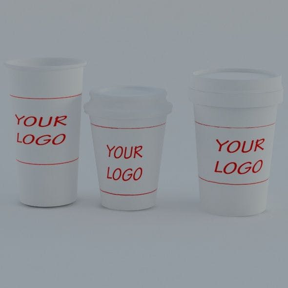 Coffee cups - 3DOcean Item for Sale