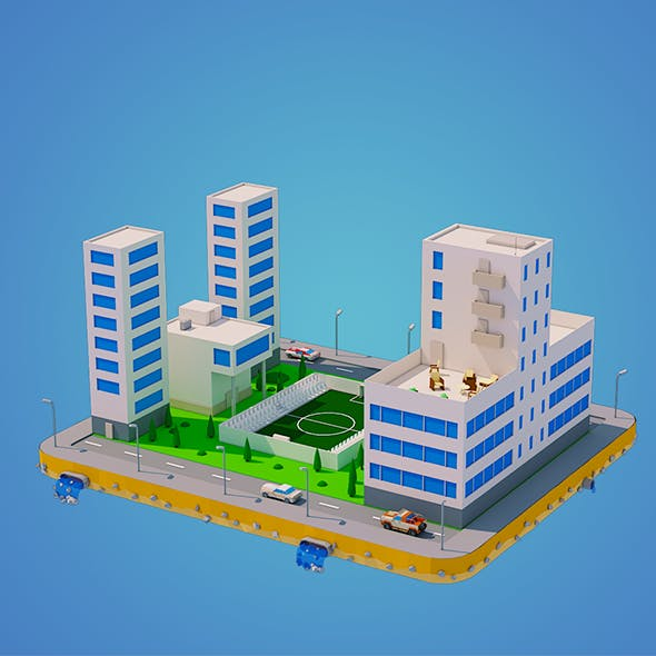 Low Poly City Block