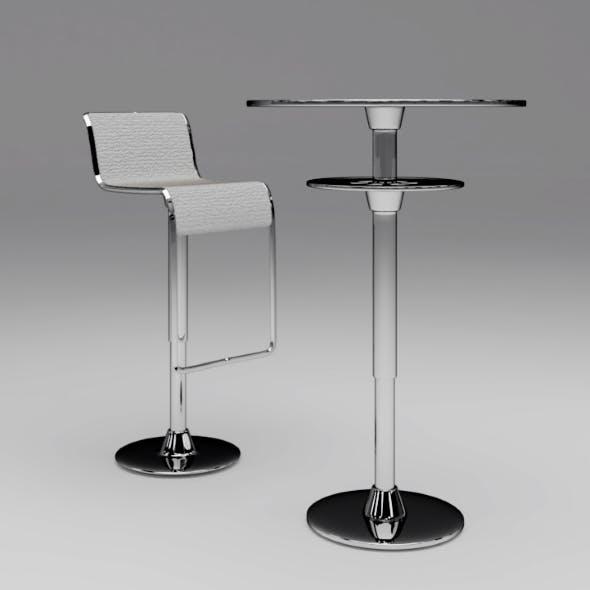 Bar chair & Table - 3DOcean Item for Sale