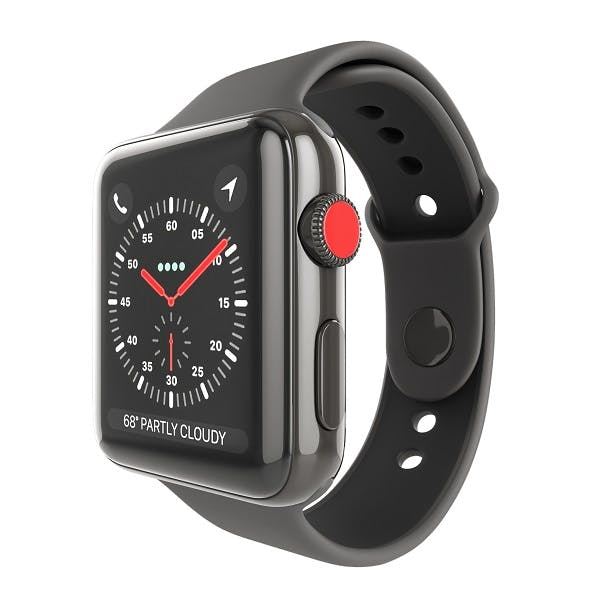 Apple Watch Edition Series 3 42mm with Sport Band Ceramic Black