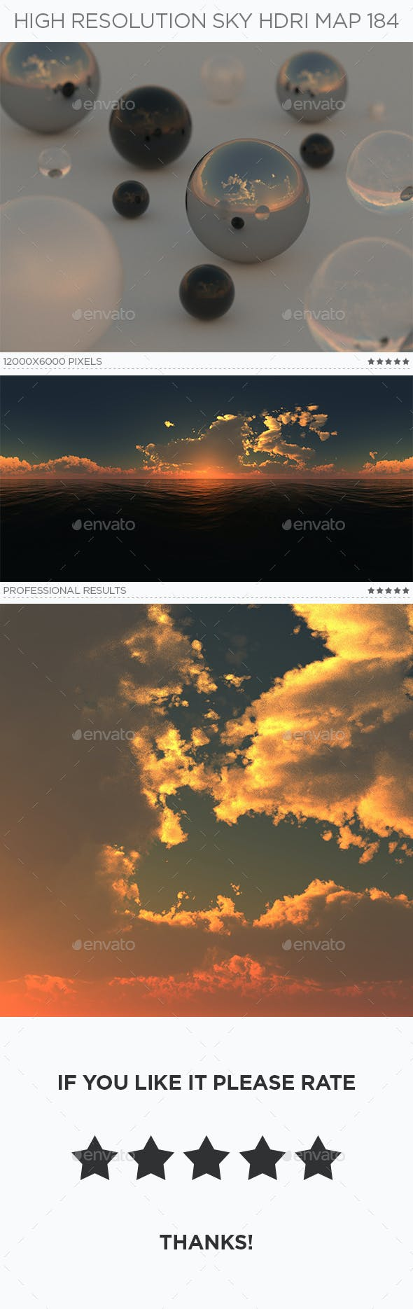 High Resolution Sky HDRi Map 184 - 3DOcean Item for Sale
