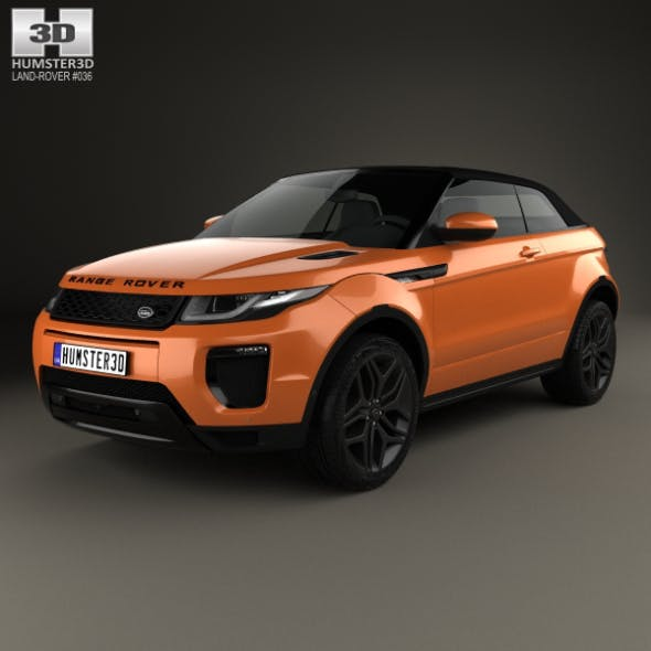 Land Rover Range Rover Evoque Convertible 2016 - 3DOcean Item for Sale