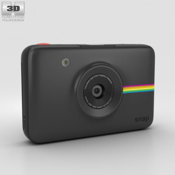 Polaroid Snap Instant Digital Camera Black - 3DOcean Item for Sale