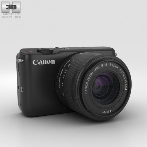 Canon EOS M10 Black - 3DOcean Item for Sale