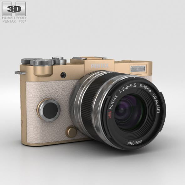 Pentax Q-S1 Champagne Gold - 3DOcean Item for Sale