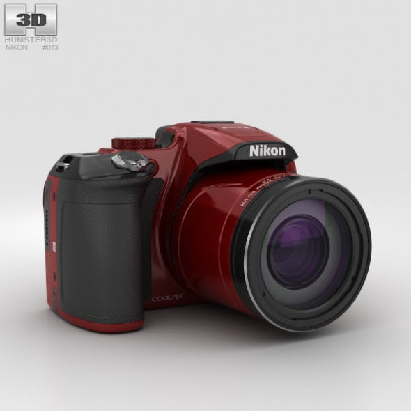 Nikon Coolpix P610 Red - 3DOcean Item for Sale