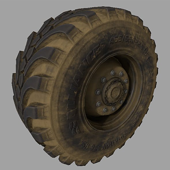 Wheel-tire with Full Textures