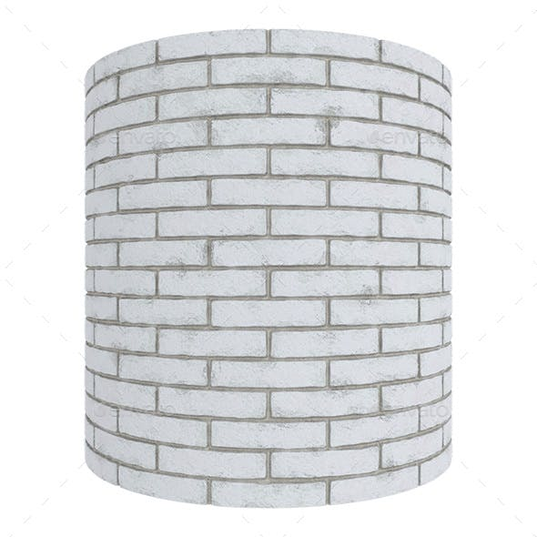 White Brick Wall Seamless Texture - 3DOcean Item for Sale