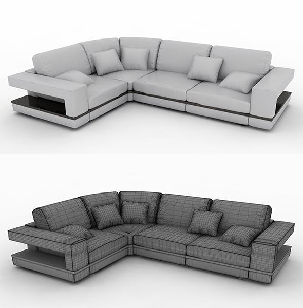 High quality sofa - 3DOcean Item for Sale