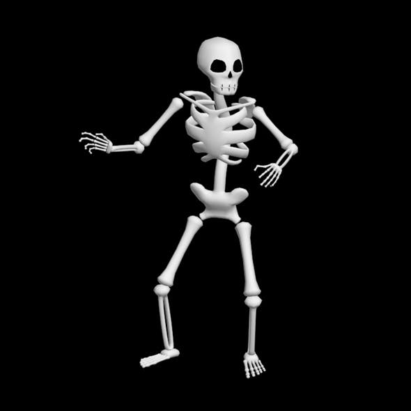 Low Poly Skeleton - 3DOcean Item for Sale