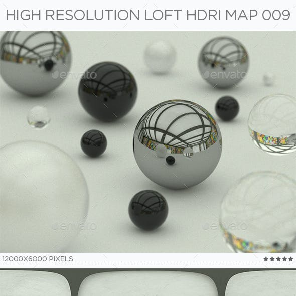 High Resolution Loft HDRi Map 009