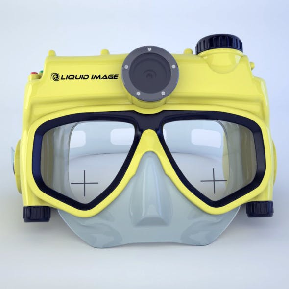 underwater mask with camera - 3DOcean Item for Sale