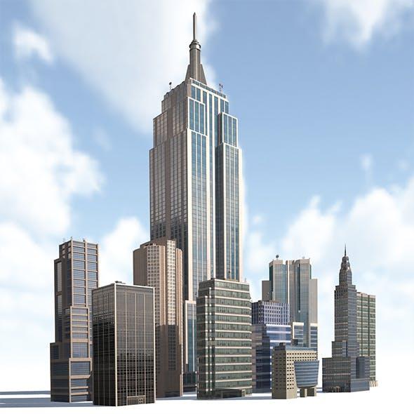 High Rise City Building BUNDLE - 3DOcean Item for Sale