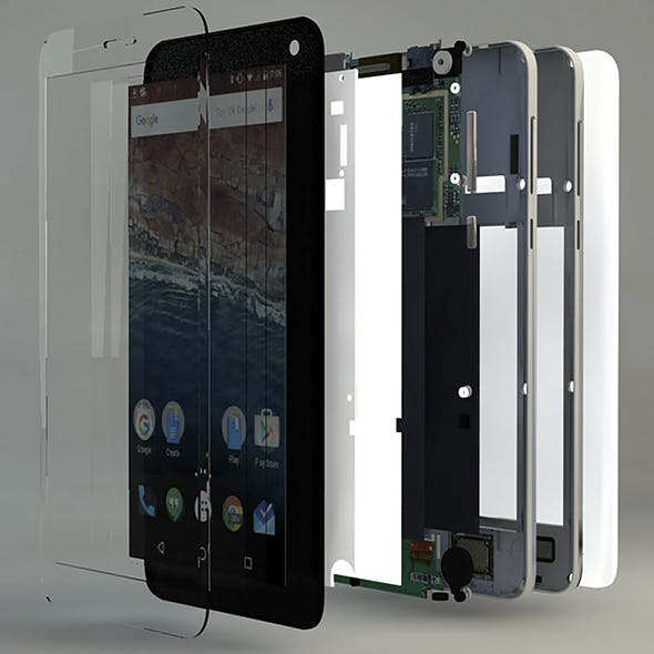 Android Phone Inside Part Complete - 3DOcean Item for Sale