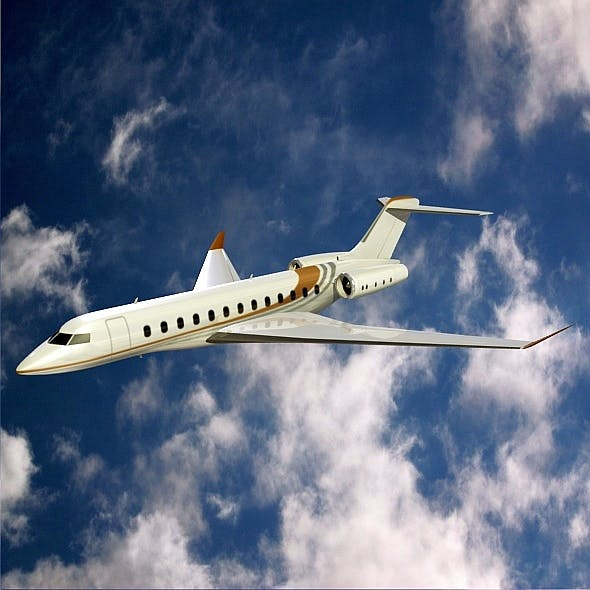 Bombardier global 8000 business jet - 3DOcean Item for Sale