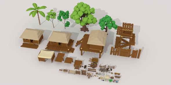 Pitate Village Pack - 3DOcean Item for Sale