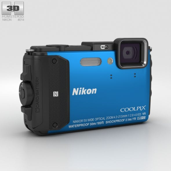 Nikon Coolpix AW130 Blue - 3DOcean Item for Sale