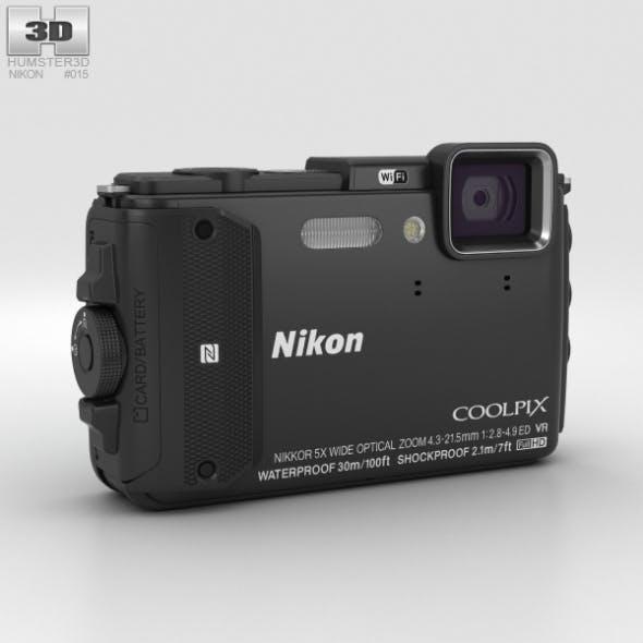 Nikon Coolpix AW130 Black - 3DOcean Item for Sale