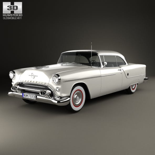 Oldsmobile 88 Super Holiday coupe 1954 - 3DOcean Item for Sale