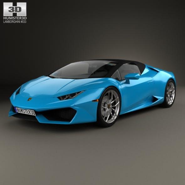 Lamborghini Huracan LP 610-4 Spyder 2015 - 3DOcean Item for Sale