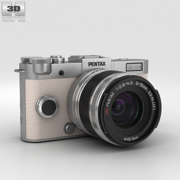Pentax Q-S1 Silver - 3DOcean Item for Sale
