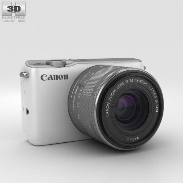 Canon EOS M10 White - 3DOcean Item for Sale