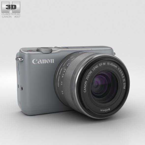 Canon EOS M10 Gray - 3DOcean Item for Sale