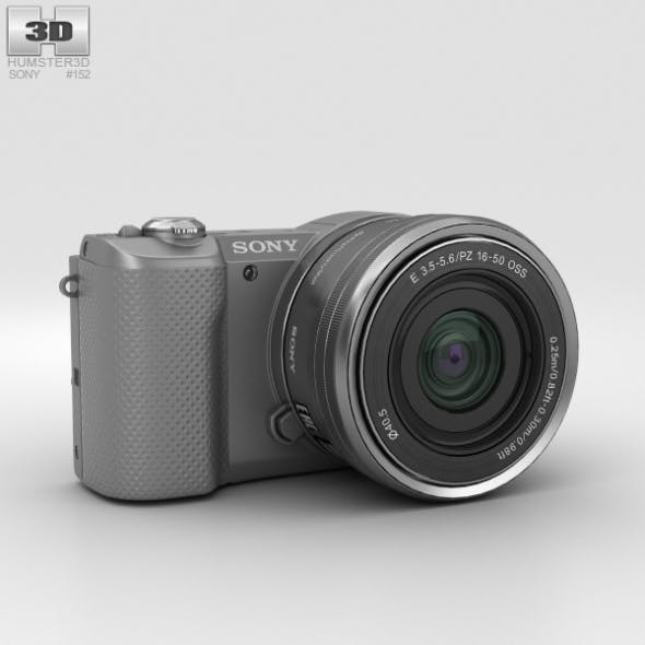 Sony Alpha A5000 Silver - 3DOcean Item for Sale