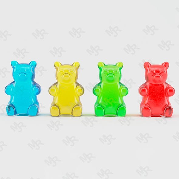 Gummy Bears Animated - 3DOcean Item for Sale