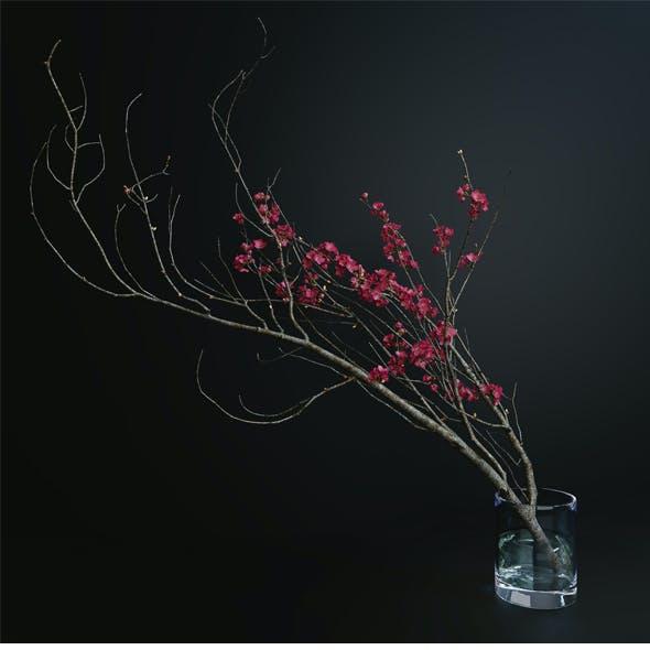 Decorative branch with flowers of sakura