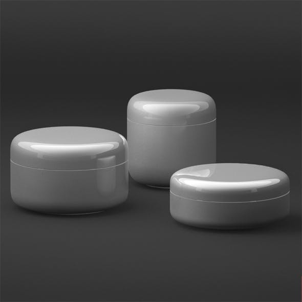 Cosmetic Cream Tubs - 3DOcean Item for Sale