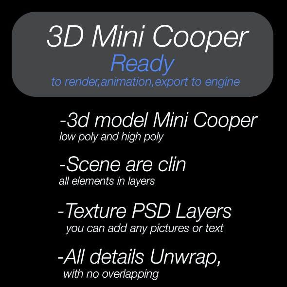 3D model Mini Cooper