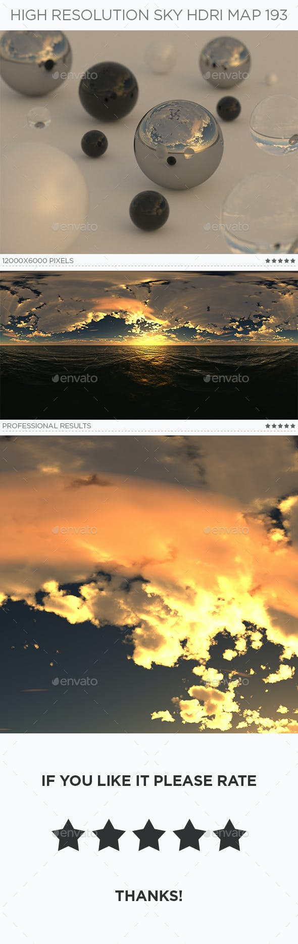 High Resolution Sky HDRi Map 193 - 3DOcean Item for Sale