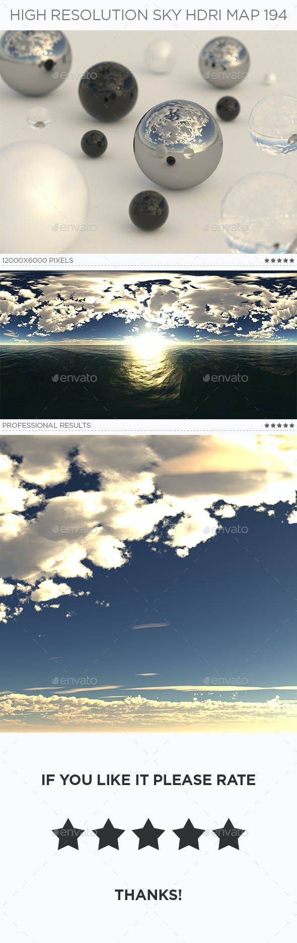 High Resolution Sky HDRi Map 194 - 3DOcean Item for Sale