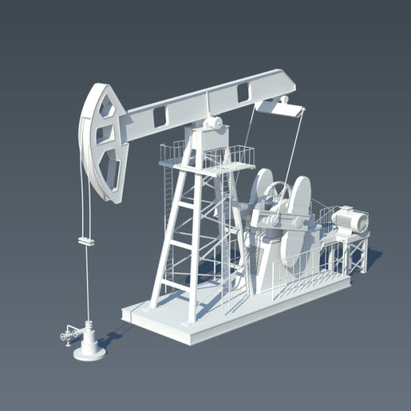 Animated Pump Jack (Oil Pump)