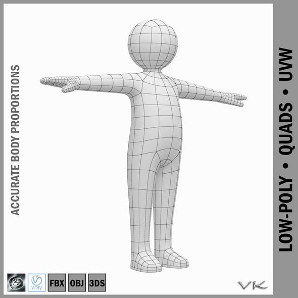 Baby Stickman Character 3D Model - 3DOcean Item for Sale