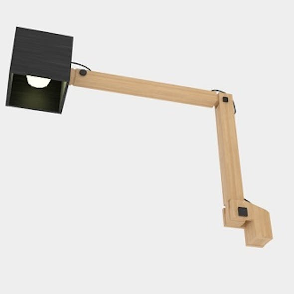 Table Lamp Contemporary Oak Swing-arm