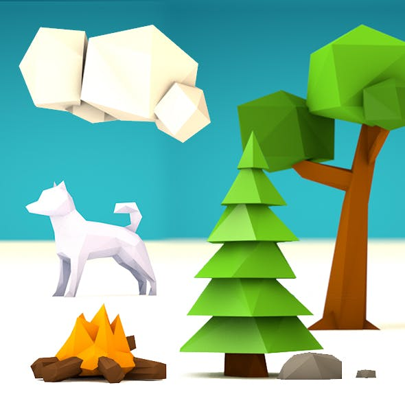 Low Poly Set