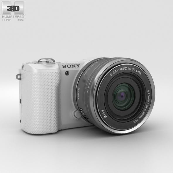 Sony Alpha A5000 White - 3DOcean Item for Sale