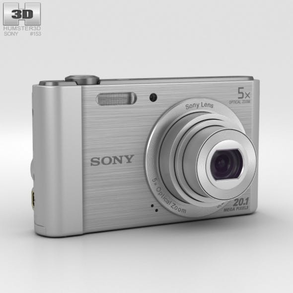 Sony Cyber-Shot DSC-W800 Silver - 3DOcean Item for Sale