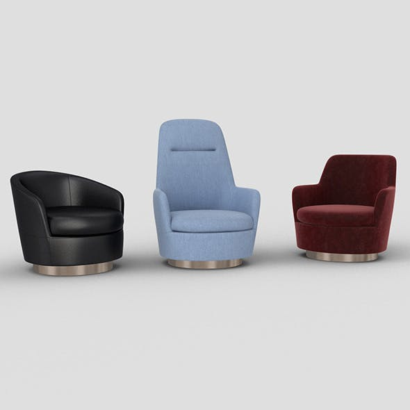 Jacques_armchairs - 3DOcean Item for Sale