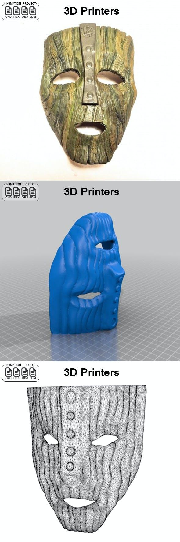 Mask of Jim Carrey - 3DOcean Item for Sale