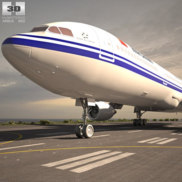 Airbus A330-300 - 3DOcean Item for Sale