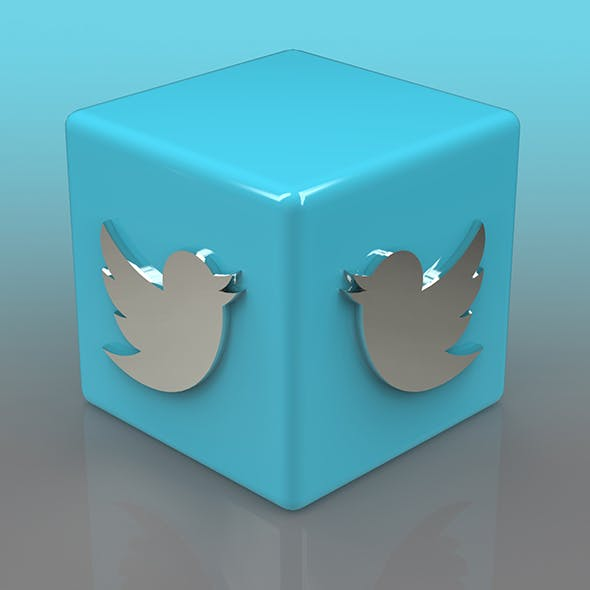 Twitter Logo - 3DOcean Item for Sale