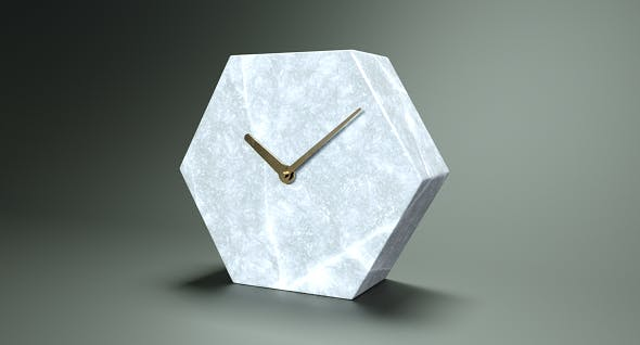 Polygonal Marble Clock - 3DOcean Item for Sale