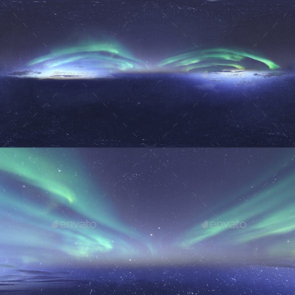 Skydome HDRI - Northern Lights and Stars