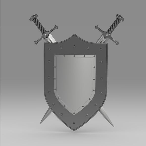 Shield and sword 2 - 3DOcean Item for Sale